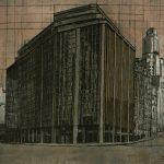 La esquina, 2005. Témpera, 180 x 200 cm