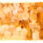 Semillas y frasquito blanco, 2006. Acuarela y temple de cera, 25 x 35 cm