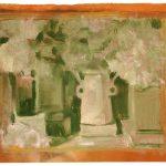 El jarrón, 2004. Acuarela y temple de cera, 30 x 35 cm