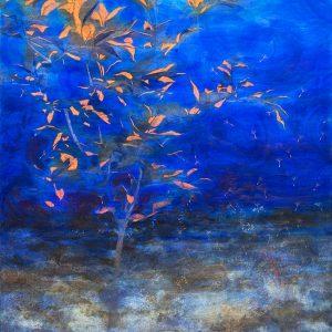 Árbol, 2012. Acuarela, lápices de colores y metalizados, 140 x 100 cm