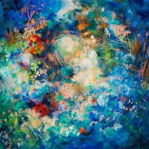 Floresta, 2011. Acuarela, pastel tiza, carbón y pigmentos, 100 x 140 cm