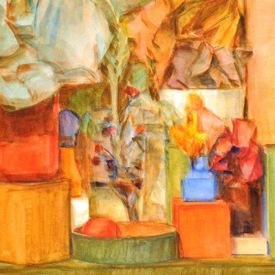 Ciudad Barroca II, 2003. Acuarela, 56 x 76 cm