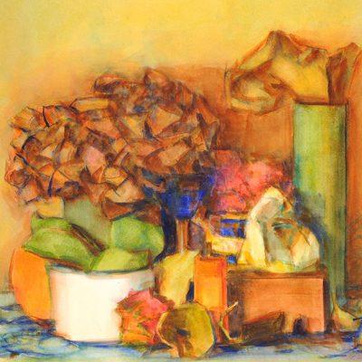 La habitación con luz, 2003. Acuarela, 56 x 76 cm