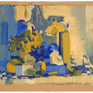 La habitación II, 2003. Témpera, 50 x 60 cm