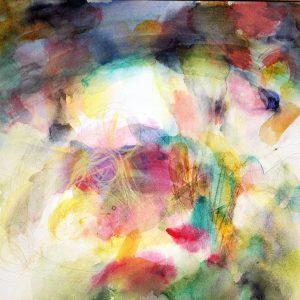 El arco, 2011. Acuarela con pastel, 18 x 26 cm