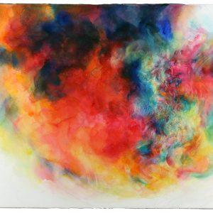 Tormenta, 2011. Acuarela y grafito sobre papel, 56 x 76 cm
