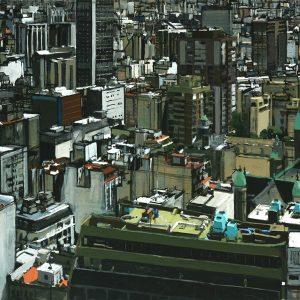 Cúpulas verdes, 2005. Témpera, 100 X 130 cm