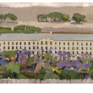 Hotel de Inmigrantes II, 2002. Témpera, 89,5 x 135,5 cm