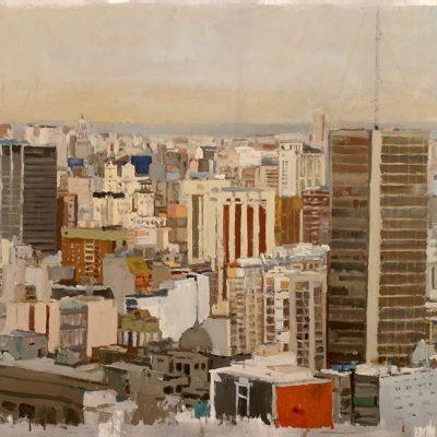 Buenos Aires a las cinco de la tarde, 2004. Témpera, 105 x 118 cm