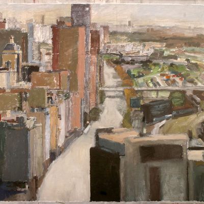 Avenida Libertador, 2003. Témpera, 149 x 212 cm