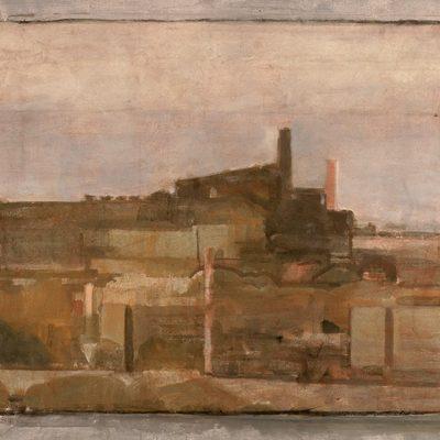 Usina (Italia), 2003. Témpera, 82 x 139 cm