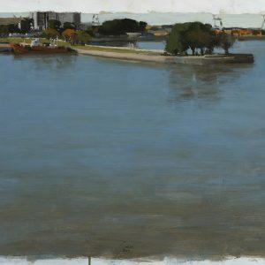 Dársena Norte, 2005. Témpera, 50 x 70 cm