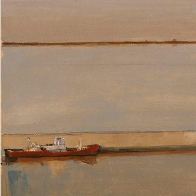 Río de la Plata, 2001. Témpera, 41 x 72 cm