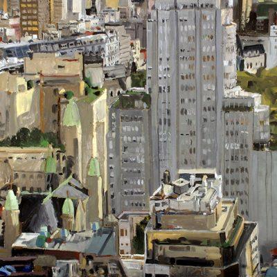 Plaza San Martín, 2004. Témpera, 153 x 216 cm