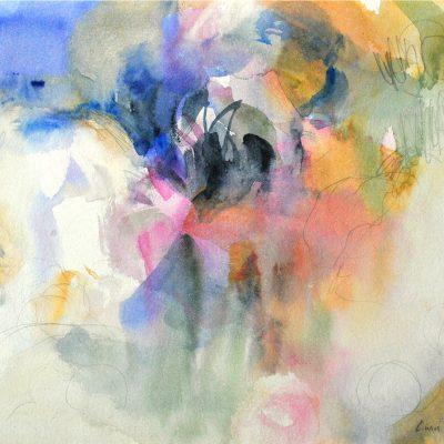 Cumulo IV, 2011. Acuarela y grafito, 24 x 32 cm