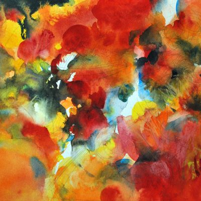 Aire II, 2011/12. Acuarela y grafito, 24 x 32 cm