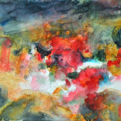 Aire, 2011. Acuarela y grafito, 24 x 32 cm