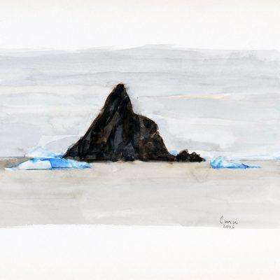 6-2-2006, Día 35, 2006. Acuarela, 25 x 35 cm
