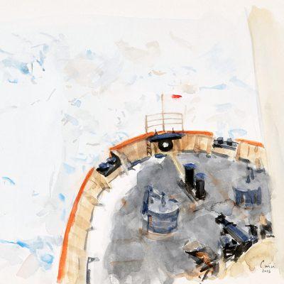 24-1-2006, Pleno día / realizado aprox. a las 24hs. Día 22, 2006.  Acuarela, 25 x 35 cm