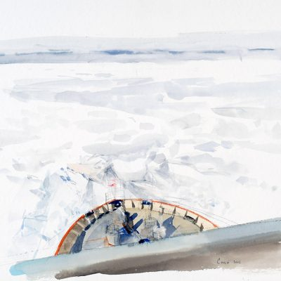 1-2-2006, Buscando el camino, Día 30, 2006. Acuarela, 42 x 56 cm