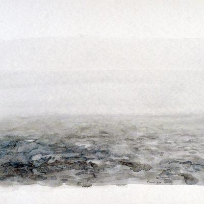 5-1-2006, Ida. Océano Pasaje Drake. Día 3, 2006. Acuarela, 42 x 56 cm