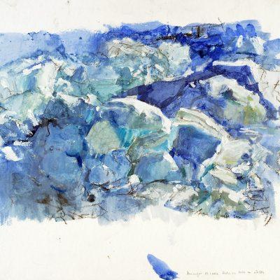 29-1-2006, Hielo en popa a estribor, Día 17, 2006. Tempera, 42 x 56 cm
