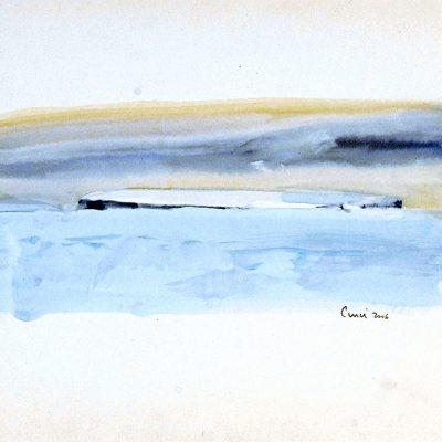 """25-1-2006, témpano. Día 23"""", Acuarela, 2006. 25 x 35 cm"""