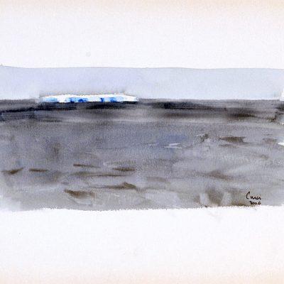 """4-2-2006, Día 33"""", Acuarela, 2006. 25 x 35 cm"""