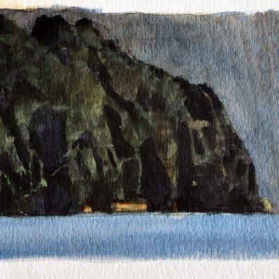 Punta de una isla, 2008. Acuarela, 17 x 24 cm