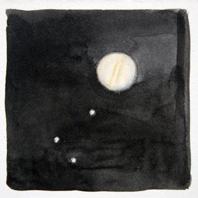 Júpiter, 2017. Acuarela, 10 x 10 cm