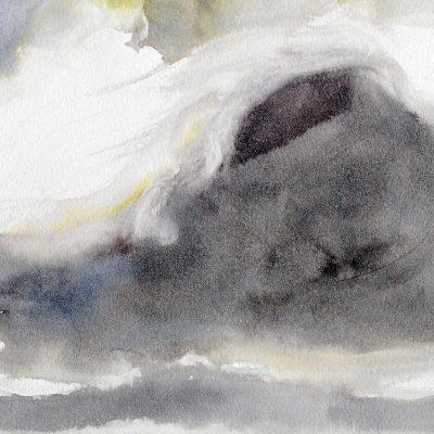 Nube 5, 2011-2012. Acuarela, 23 x 31 cm