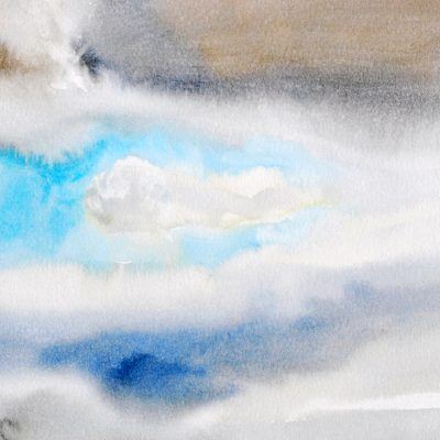Nube 6, 2011-2012. Acuarela, 23 x 31 cm