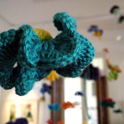 Florescencia, instalación de lana, 2014