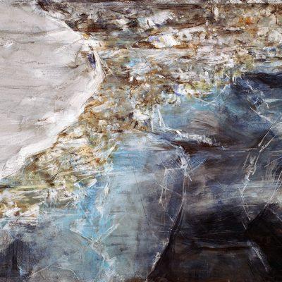 Primer hielo, 2008. Acuarela y temple de cera sobre papel, 70 x 100 cm