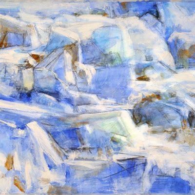 Luz de hielo, 2009. Acuarela, carbón y temple de cera sobre papel, 70 x 100 cm