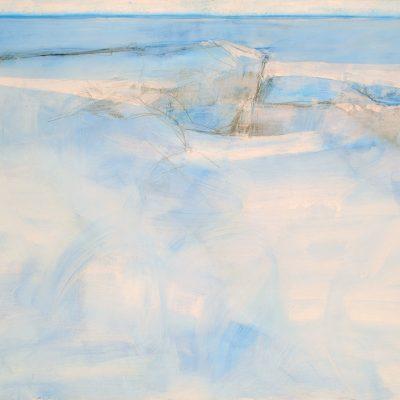 Bajo el horizonte, 2009. Acuarela y temple de cera, 70 x 100 cm