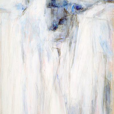 Bloque 4, 2008. Acuarela y temple de cera, 100 x 70 cm