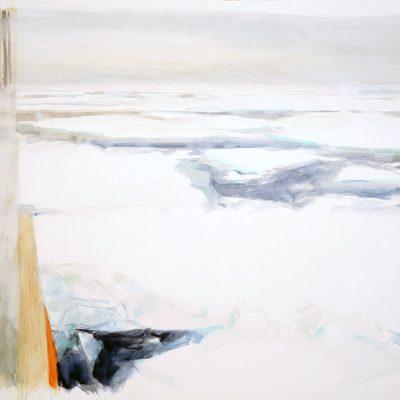 Extraña calma 2. 2008. Acuarela y temple de cera, 100 x 150 cm