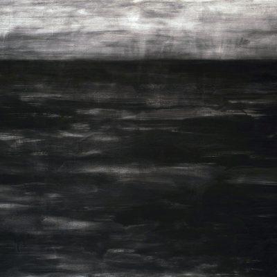 Océano negro, 2009. Carbonilla y temple de goma s/tela, 150 x 200 cm
