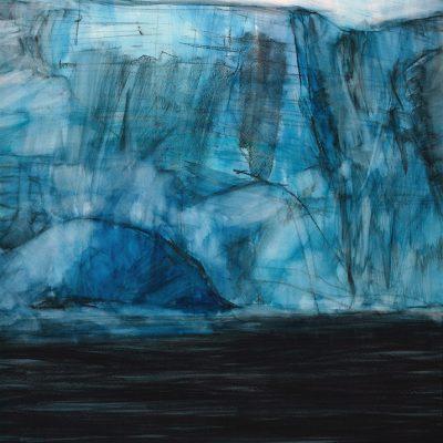 Hielo, 2010. Acuarela y carbonilla, 140 x 100 cm