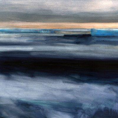 Horizonte polar, 2010. Acuarela sobre papel montado en tela, 67 x 197 cm