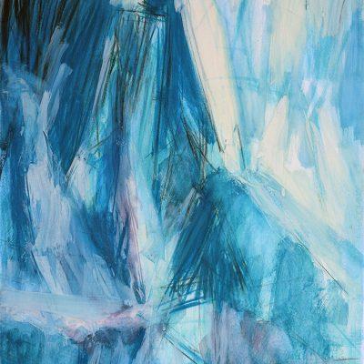 Bloque 10, 2009. Acuarela y temple de cera, 100 x 70 cm