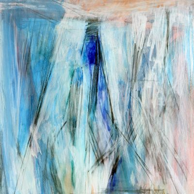 Bloque 7, 2009. Acuarela y temple de cera, 100 x 70 cm
