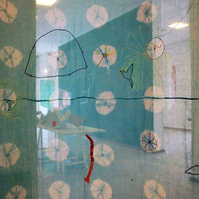 Melfa verde agua, Instalación, MACSur, Lanús