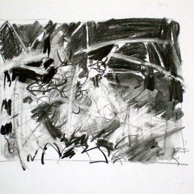 Composición Nro. 20, 2004. Carbón, 24 x 30 cm