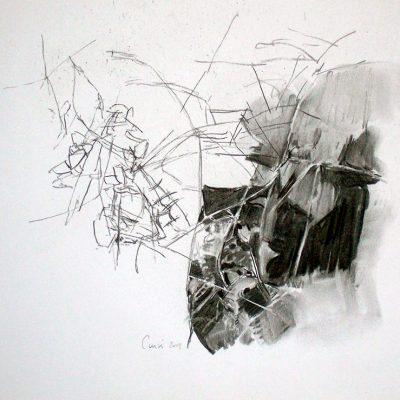 Composición nº 18, 2004. Carbón, 27 x 35 cm