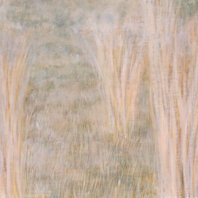 Pastos blancos,2005. Temple al huevo sobre tabla, 30 x 40 cm