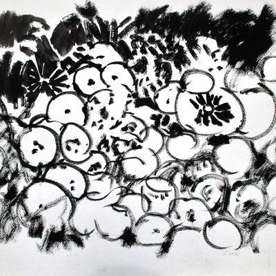 Semillas tinta 1, 2006. Tinta, 42 x 56 cm