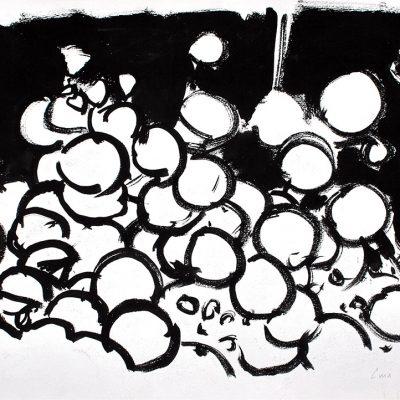 Semillas tinta 2, 2006. Tinta, 42 x 56 cm
