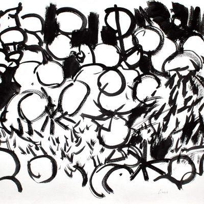 Semillas tinta 3, 2006. Tinta, 42 x 56 cm